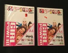 LOT (2) NEW Spice Girls Memorabilia Merchandise SCRIBBLE PAD SCHOOL NOTEBOOK