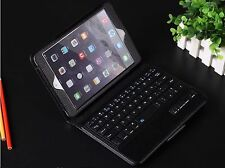 iPad Mini 2/3/4 Black Case Leather Detachable Magnetic Bluetooth Keyboard Folio