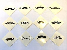 72 Mustache Moustache Fingerstache Tattoos Party Favors Teacher Supply