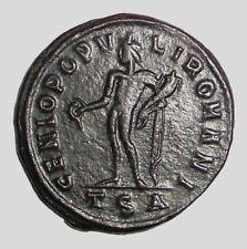Ancient Roman, Galerius. 305 - 311 AD. AE-Follis. Thessalonica Mint. Genius