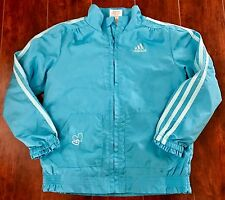 GIRLS ADIDAS JACKET COAT size 6 Blue Athletic Sports School Lined