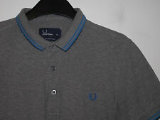 "mens Fred Perry ""stretch fit"" twin tipped polo shirt t-shirt slim M6273 medium M"