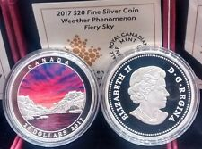 Weather Phenomenon Fiery Sky $20 1OZ Pure Silver Coin Canada 2017 Mint Sold Out.