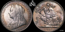 iNi Great Britain, Victoria, Crown, nicely toned, 1900, Lxiv, aUnc/Unc