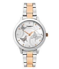 TIMEX Analog Trendy Steel-Copper Chain Watch for Women & Girls TW000T607