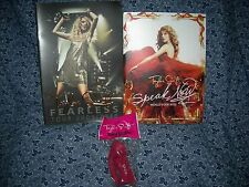 Rare New Taylor Swift Fearless 2009/2010 & Speak Now 2011 Tour Books & FREE GIFT