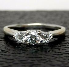 Beautiful 1.9DWT 18K White Gold .54 Carat Diamond Ring - Size 7