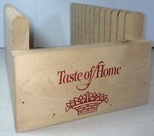 Taste Of Home Bread Loaf Slicing Wood Kitchen Tool 12 Even Cuts