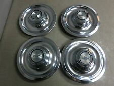Set of Four ORIG Center Hub Cabs for 1967 Corvette - EXCELLENT SURVIVORS !