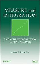 Measure and Integration: A Concise Introduction to Real Analysis, Richardson, Le