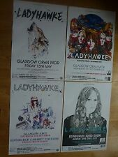 Ladyhawke Scottish tour concert gig posters x 4