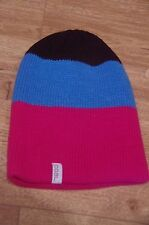 NEW Coal Frena Stripe Beanie in Pink/Blue/Black - Casual Hats 1size fits all