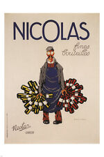 NICOLAS fine BOTTLES vintage AD poster A.M. cassandre 1924 FRANCE 24X36 Rare