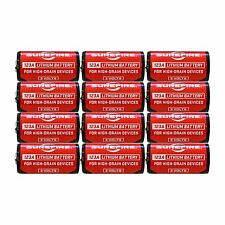 SUREFIRE Battery, 123A, Lithium, 3V, Box of 12