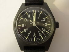 US MILITARY ISSUE Black Quartz 33mm Watch Tritium Dial 2006 by Marathon MWC