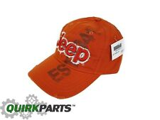 JEEP HAT BASEBALL CAP ORANGE ONE SIZE FITS ALL OEM NEW MOPAR GENUINE