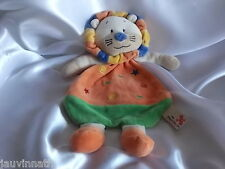 Doudou lion orange, vert, Nicotoy, Kiabi, Blankie/Lovey/Newborn toy