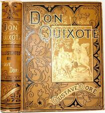 "RARE c1880 THE HISTORY OF DON QUIXOTE ILLUSTRATED BY GUSTAVE DORE FOLIO 12""x10"""