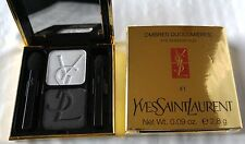YSL Ombre Duolumieres Eye Shadow Duo #41 Silver Moire/Flannel Black NIB
