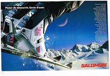 Publicité Advertising 1989 (2 pages) Les Chaussures de ski et Skis Salomon