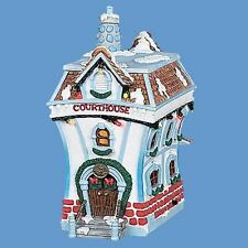 Disney House Toontown light up Holiday House: Courthouse  ( Retired)