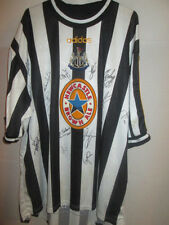 Newcastle United 1998-00 Match Worn squad Signed Home Football Shirt COA /21962
