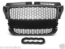 GRILLE, SHIELD POWER, GRID FOR AUDI A3 (8P) RS-TYPE 04.08-07.12 MATT BLACK