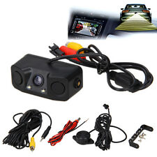 Car Reverse Backup Parking Radar Rear View Camera With Parking Sensor 3-In-1 New