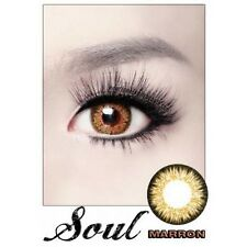 Lentilles de Couleur MARRON Big Eyes SOUL Duree 365j. Filtre Contact UV +Etui