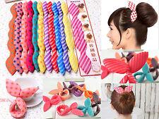 15 Mixed Rabbit Bunny Ears Sponge Clip Foam Curler Twist Hair Styling Maker Tool
