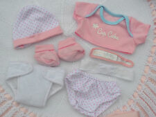 "PJs LA NEWBORN CUPCAKE NAPPY TOP PANTS HAT BOOTIES SET FOR 14"" BABY DOLL/REBORN"