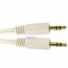 3m Gold 3.5mm Mini Jack Plug to Plug WHITE Audio Cable Stereo Music Sound Lead