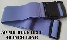 50 MM  LIGHT BLUE WAISTBAND BELT 40 INCH LONG ELASTIC STRETCHABLE STRAP