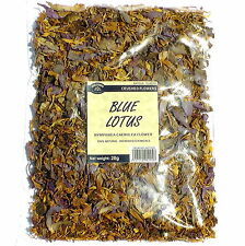 BLUE LOTUS 28 g Nymphaea caerulea crushed flowers FROM THE SOURCE SLOW DRIED