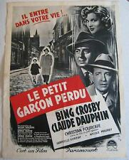 movie poster Little Boy Lost / Le Petit Garcon Perdu   Bing Crosby