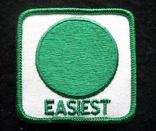 """EASIEST~SKI TRAIL MARKER EMBROIDERED SEW ON PATCH TOURIST SOUVENIR 2 1/2"""" SQUARE"""