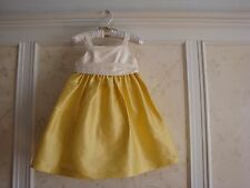 NWT $148 JANIE AND JACK SPECIAL OCCASION GIRLS IVORY/YELLOW SILK DRESS 2 2T
