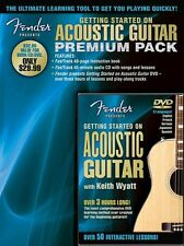 Fender Getting Started On Acoustic Guitar Pack Learn to Play Music Book & DVD