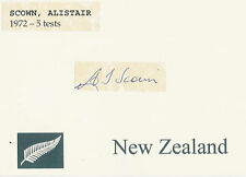 ALISTAIR SCOWN NZ ALL BLACK SIGNED RUGBY CARD