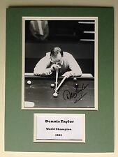 "SNOOKER DENNIS TAYLOR SIGNED 16""X12"" DOUBLE MOUNTED PICTURE DISPLAY"