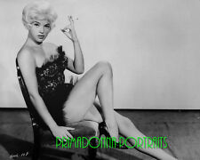 DIANA DORS 8X10 Lab Photo '50s Sexy Blonde Bomdshell Smoking in Corset Portrait