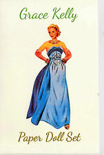 Grace Kelly anziehpuppe con 5 vestidos Paper Doll set the Shackman Collection