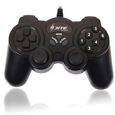 Plastic Two Shock USB Wired Computer Game Pad Controller Joystick Joypad for PC