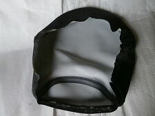 Motorcycle seat cover , black vinyl cafe racer bobber  chopper project