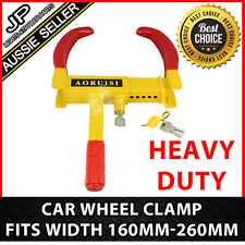 Heavy Duty Steel Car Wheel Clamp Safety Lock Trailer Caravan Tyre Fits 160-260MM