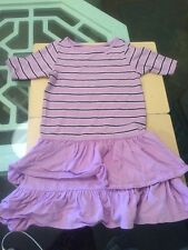 Tea Collection Purple Striped Ruffle Dress Girls' Size 8