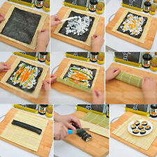DIY Sushi Rolling Roller Mat Maker Bamboo Material Home Kitchen Tools Gadgets