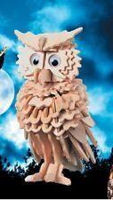 Puzzled3-D Wood Puzzle Owl 4.5 x 4 x 7 inches 146 Pieces Ready To Paint   B188