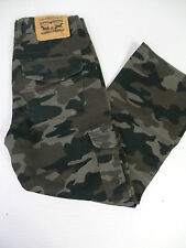 Levi's Boys 505 Regular Fit Straight Leg Jeans Camo US Size 12 NWT