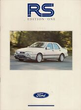 Ford RS 1991 Ed 1 UK Market Brochure Fiesta Escort RS Turbo Sierra Cosworth 4x4
